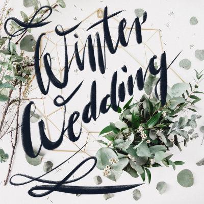 Winterstimmung mit Schrfitzug Winter Wedding